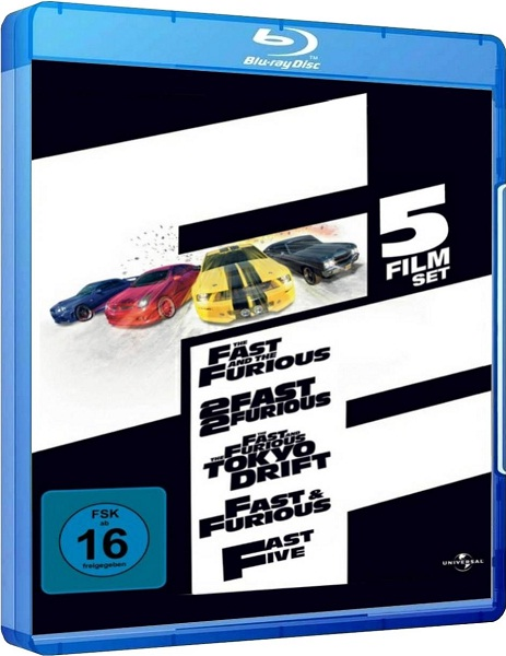 Stiahni si HD Filmy Rychle a zbesile 1-5 / Fast and the Furious 1-5 (2001-2011)(CZ)[720p] = CSFD 71%