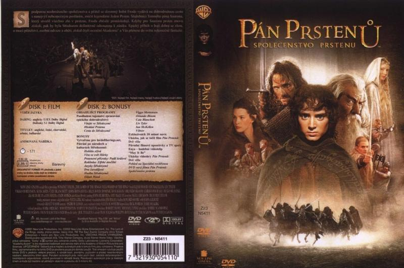 Stiahni si Filmy DVD Pan prstenu: Spolecenstvo Prstenu / The Lord of the Rings: The Fellowship of the Ring (2001)(CZ/EN) = CSFD 90%