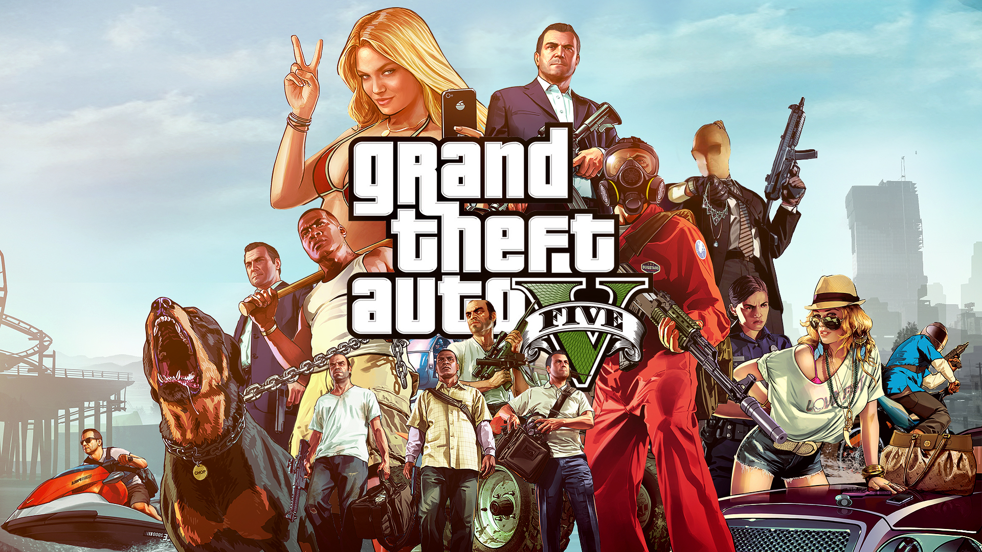 Stiahni si Hry na Windows Grand Theft Auto V - Self-Radio fix