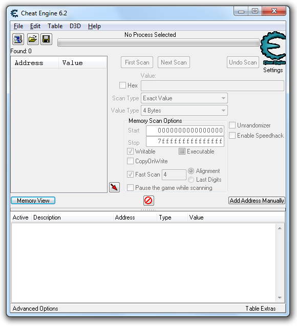 Stiahni si Programy Cheat engine 6.2