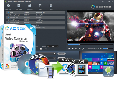 Stiahni si Programy Acrok Video Converter Ultimate 6.2.101.1144 rar. (2018)